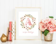 Antler Nursery Wall Art Printable Baby Name by INVITEDbyAudriana