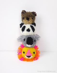 DIY Pom-Pom Animals. For fashion, beauty and lifestyle posts check out Natasha Dearden's blog - http://natashadearden.com/