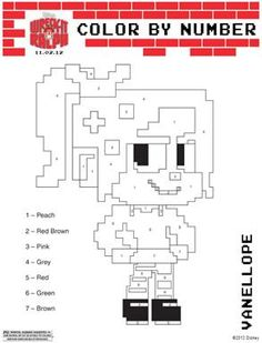 Stop by for some fun Wreck It Ralph coloring pages including Wreck It Ralph and Vanellope! Adult Coloring Book Pages, Free Coloring Pages, Printable Coloring Pages, Coloring Sheets, Coloring Books, Disney Activities, Activities For Kids, Projects For Kids, Crafts For Kids