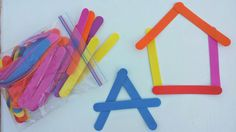 Foam sticks. Heather Hess: How to Create the Perfect Activity Box for Kids. A list of busy activities for toddlers in an organized way