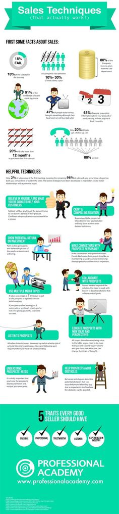 Sales Techniques That Actually Work! - #infographic