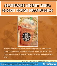 Starbucks Secret Menu: Cookie Dough Frappuccino