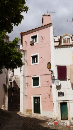 Alfama neighborhood streets in Lisbon