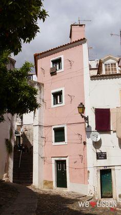 Alfama neighborhood streets in Lisbon