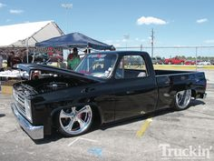 Custom Classic Truck Show | Showdown Custom Trucks Invade Houston Chevy Classic Truck Side View