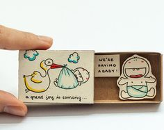 Cute & fun Handmade Matchbox Cards par shop3xu sur Etsy