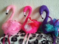 Flamingos made by 'Fascynatory Natalii' poland