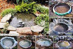 DIY Tractor Tire Garden Pond