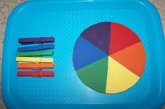 Another way to teach colors. Love matching and naming activities!