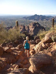 Camelback Mountain hike outside Phoenix
