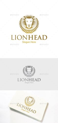Luxurious Lion Head  Logo Design Template Vector #logotype Download it here: http://graphicriver.net/item/luxurious-lion-head-logo/14122637?s_rank=895?ref=nesto
