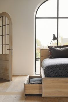 Ethnicraft Nordic II bed--now available with drawers.