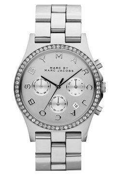 MARC BY MARC JACOBS 'Henry' Chronograph & Crystal Topring Watch available at #Nordstrom