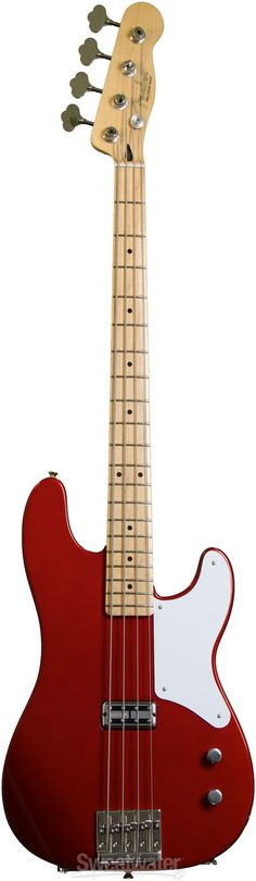 Fender Cabronita Precision Bass - Candy Apple Red | Sweetwater.com