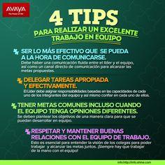 4 Tips para realizar un excelente trabajo en equipo.