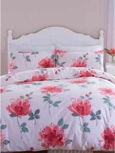 Painted Floral Print Duvet Set