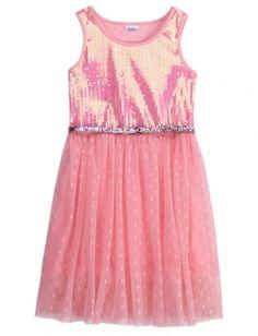 DENIM TIE FRONT DOT DRESS   GIRLS DRESSES CLOTHES   SHOP JUSTICE ...