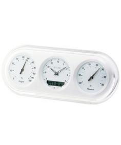 IDEA LABEL 電波三連温湿時計 (White) ¥3,000(税抜)