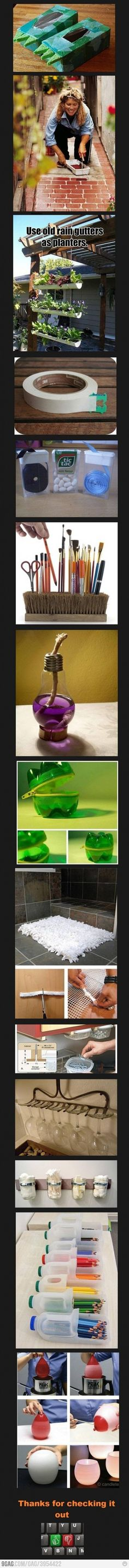 Clever recycling ideas!!!