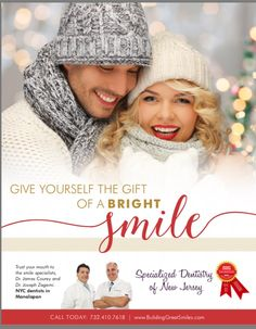 Treat yourself this holiday season… You deserve it! Great Smiles, Dentistry, Winter Hats, Crochet Hats, Nyc, Seasons, Holiday, Gifts, Knitting Hats