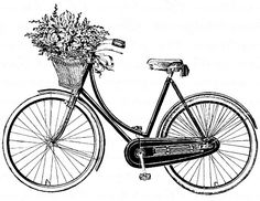 Bicycle vintage for transfer Bicycle Decor, Bicycle Art, Transfer Images To Wood, Bicycle Drawing, Basket Drawing, French Typography, Decoupage Vintage, Bullet Journal Ideas Pages, Photoshop Elements