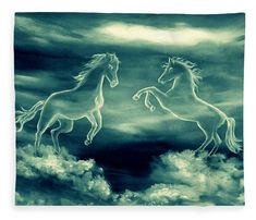 Legend Of The White Horses Wood Print by Faye Anastasopoulou. All wood prints are professionally printed, packaged, and shipped within 3 - 4 business days and delivered ready-to-hang on your wall. Fusion Art, Ocean Scenes, Thing 1, Pattern Pictures, White Horses, Wild Nature, Sky And Clouds, Artist At Work, Wood Print