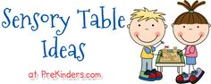 More sensory table ideas for the little ones, such as squirting liquids with turkey basters, scooping marbles with melon ballers, searching for toy bugs in Easter grass, and lots of other ideas.