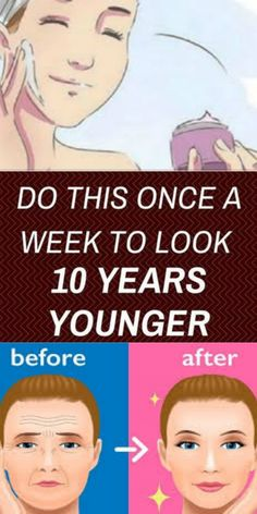 "DO THIS ONCE A WEEK TO LOOK 10 YEARS Years Younger (also abbreviated as is an American reality series that aired on TLC. It takes individuals and transform them to look more ""glamorous Health And Fitness Tips, Health And Wellness, Women's Health, Health Tips, Was Ist Pinterest, Younger Skin, Workout Videos, Workout Tips, Workout Challenge"