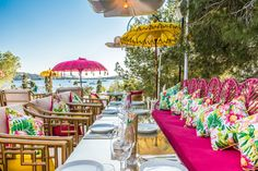 Sa Punta Restaurant in Ibiza Spain Ibiza Restaurant, Outdoor Restaurant, Hard Rock Hotel, Gaudi, Restaurant Design Concepts, Greenhouse Cafe, Ibiza Formentera, African House, Beachfront House