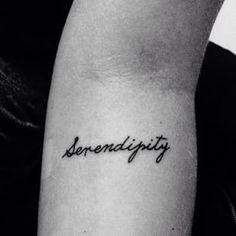 tattoo, serendipity, and love image Kpop Tattoos, Time Tattoos, Word Tattoos, Body Art Tattoos, Sleeve Tattoos, Serendipity Tattoo, Tattoo Off, Small Quote Tattoos, Dainty Tattoos