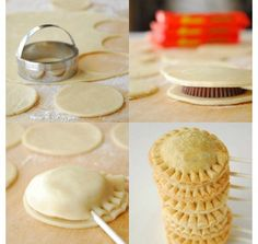 I really want to make these...but it looks like they use pie dough and I want them to be cookies...maybe use sugar cookie dough? @Rachel Gliniecki what do you think?