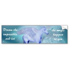 Unicorn with wings- Dream the impossible and let the magic happen to you