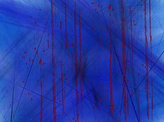 Abstract fractal manipulation in blue and red. According to Goldfrank's Toxicologic Emergencies, only about 15 human deaths can be confidently attributed to cone snail envenomation. Created April 5, 2013.
