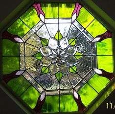 Stained Glass Windows Glass Art - Octagon Beveled Visions by Gladys Espenson