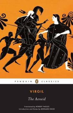 """The Aeneid"" in 29-19BC by Virgil (70-19BC). Latin epic poem (12 books in dactylic hexameter). Tells the legendary story of Aeneas, a Trojan who travelled to Italy, where he became the ancestor of the Romans. Written under the reign of Augustus, presents the hero as a strong and powerful leader. The propagandistic representation of Aeneas parallels Augustus in that it portrays his reign in a progressive and admirable light. The hero was already known in the Iliad,by Homer in the 8th c.BC."