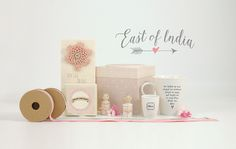 East of India Mothers Day Selection. Larger Pink Mum Box (Code 1489) Little Follow Your Heart Box (Code 1658)