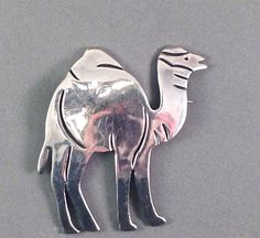 Mexican Sterling Silver Camel Pin by OpenHouseBoutique on Etsy, $85.00