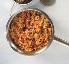 πιλάφι με θαλασσινά Greek Recipes, Paella, Macaroni And Cheese, Oatmeal, Sweets, Cooking, Breakfast, Ethnic Recipes, Food