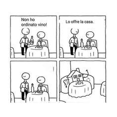 Non ho ordinato vino. Lo offre la casa. Sarcasm Humor, Funny Moments, Bellisima, Funny Photos, Haha, Comedy, Random, Memes, Sleep