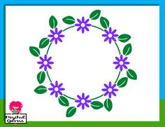Flower Frame SVG / DXF Cutting File For Cricut Explore / Silhouette Cameo & PNG Clipart, Digital Download, Commercial Use Ok by DigitalGems on Etsy