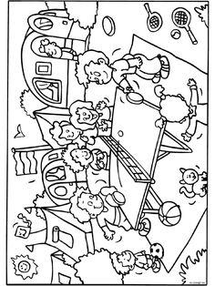 Kleurplaat Kindercamping - Kleurplaten.nl