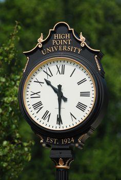 Clocks around campus
