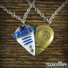 R2D2 and C3PO best friend necklaces... :)