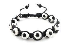 Black with White Soccer Ball Style Shamballah Macrame Stretch Bracelet JOTW. $0.01. 100% Satisfaction Guaranteed!. Great Quality Jewelry!