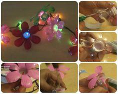 come fare ghirlanda luminosa con le bottiglie in pet tutorial