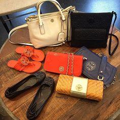 Tory Burch Obsessed!! Call us at 813-258-8800 if you would like to purchase before they go online!! #toryburch #tb #toryobsessed #toryburchrobinson #toryburchamanda #toryburchflipflops #toryburchrevas #socute #fashion #trendy #getthemquick #moshposhfinds #mymoshposh #designerhandbags #designerconsignment