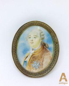 Миниатюра с изображением Людо́вика XVI (Louis XVI), король Франции из династии Бурбонов, сын дофина Людовика Фердинанда, наследовал трон своего деда Людовика XV в 1774 году. Последний монарх Франции Старого порядка.
