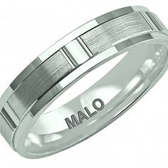 Malo | Gents Wedding Band | Style LCF-087 Wedding Band Styles, Wedding Bands, Rings For Men, Groom, Jewels, Contemporary, Metal, Men Rings, Jewelery