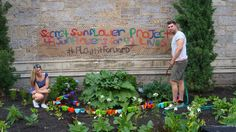 A Boston couple paid tribute to the victims of the Orlando shooting this weekend by planting sunflowers in front of Old South Boston Church.
