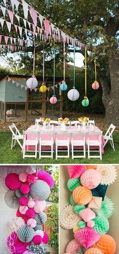 Decora tu boda con bolas de nido de abeja o honeycombs